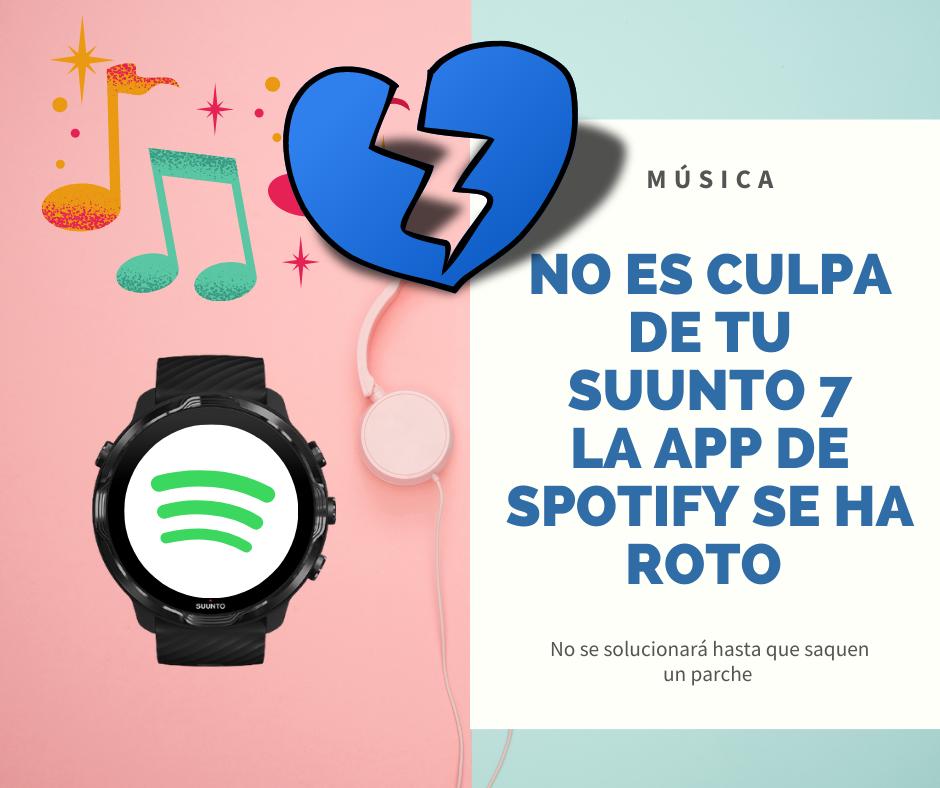 La app de Spotify está rota en Suunto 7